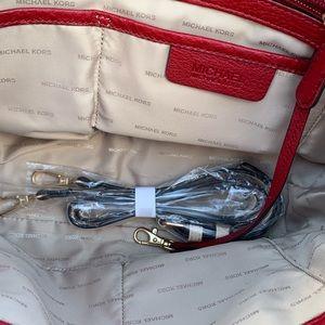 Michael Kors Bags - Michael Kors Medium Zip Bedford Leather Tote Red